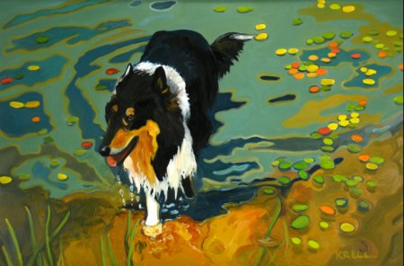Michigan artist Merdith Krell, pet portraits